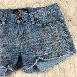 Lucky Brand Floral Paisley Print Riley Shorts